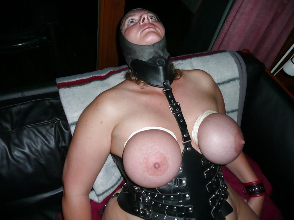 Chubby ebony bondage babe gagged and dominated black bbw slave in lingerie