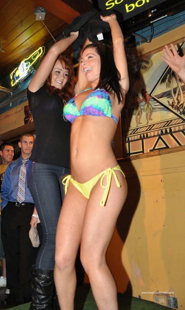 Bar bikini contest, women wit nicest ass gettin fucked