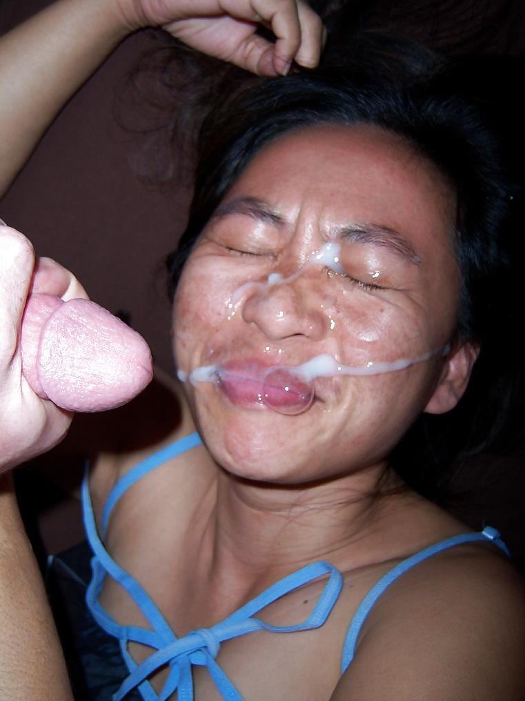 Kinky asian milf rims and milks prostate for facial
