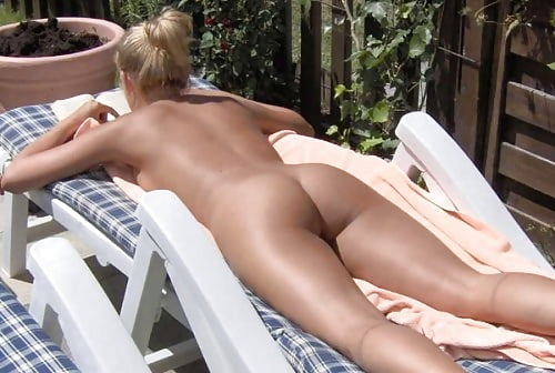 Teen nude sunbathing-7164
