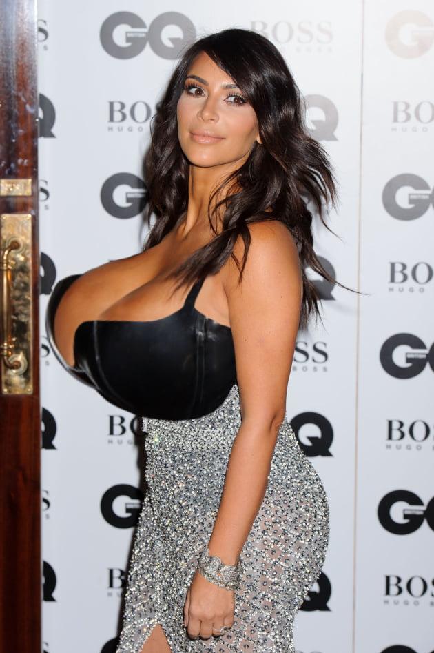 Kim kardashian plastic surgery boobs butt reduction before after pics