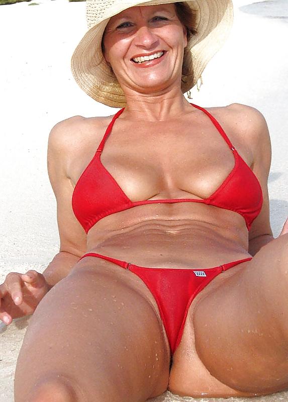 Bikini porn old women