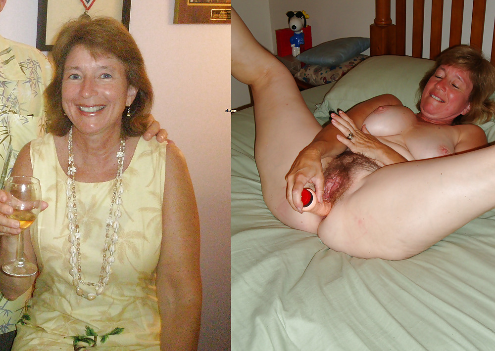 Mature clothed unclothed