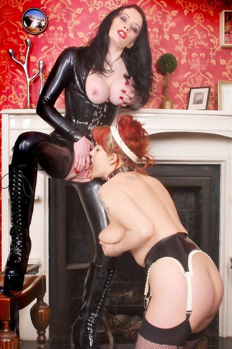 Kinky voyeur lesbian maid caught spying on slave and mistress