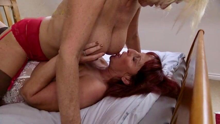 Huge tits milf lesbian