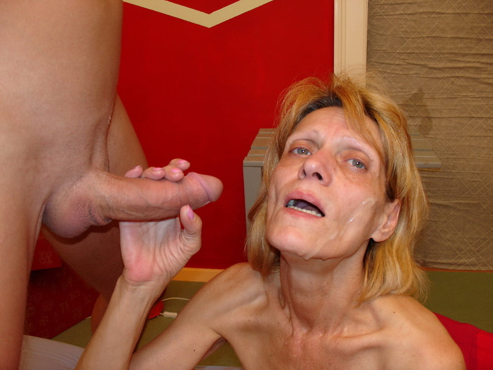 Skinny granny fucked by big cock