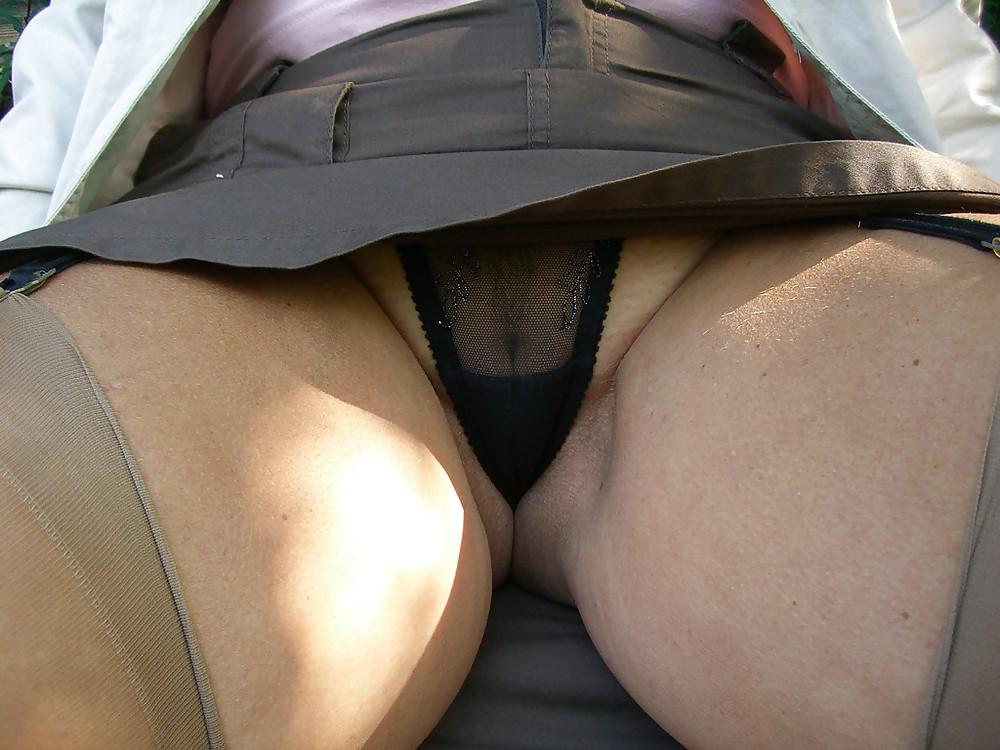 Porb upskirt big thighs ball naked