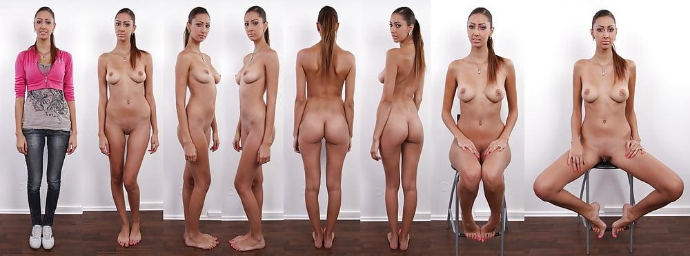 Голые женщины на фотокастинге