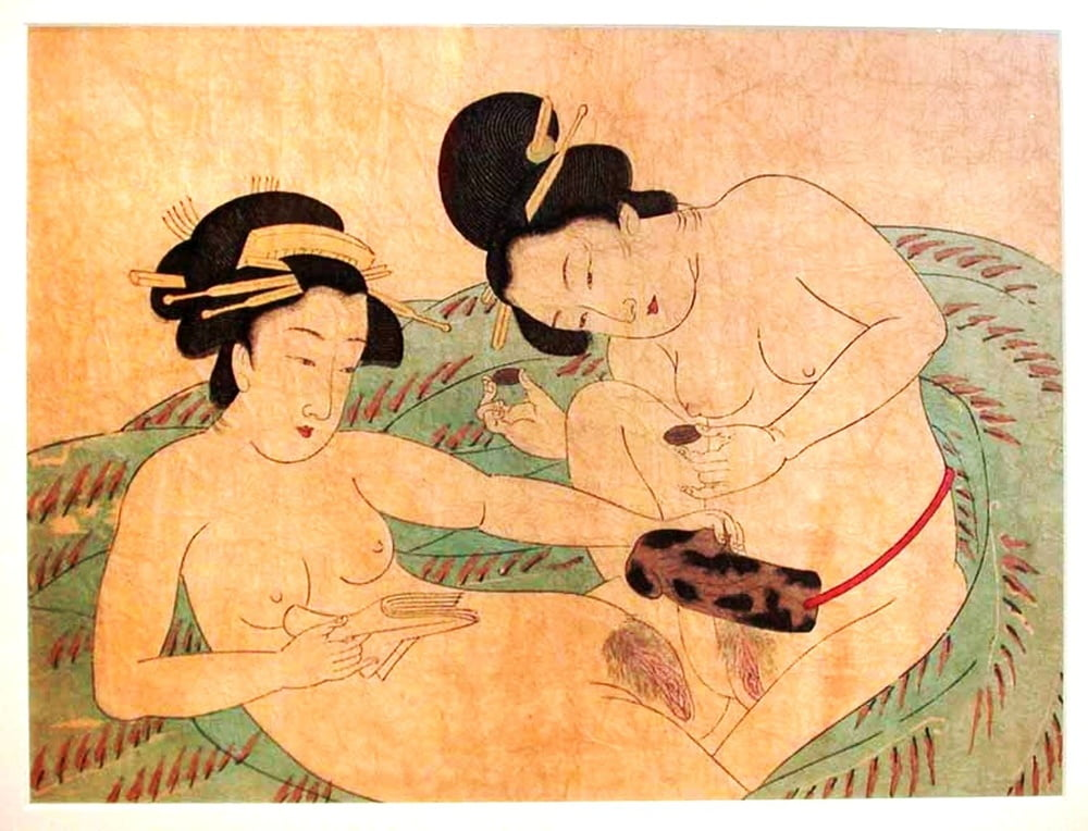 Woodblock prints illustrate the history and sensuality of japanese baths