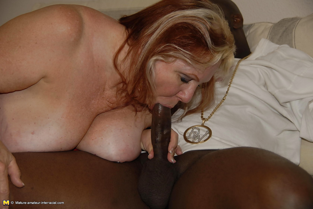 Horny Granny With Huge Natural Tits Takes Black Cock