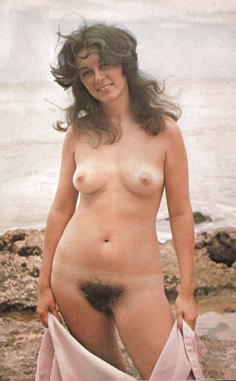 Vintage hairy female nudists mostly outdoors