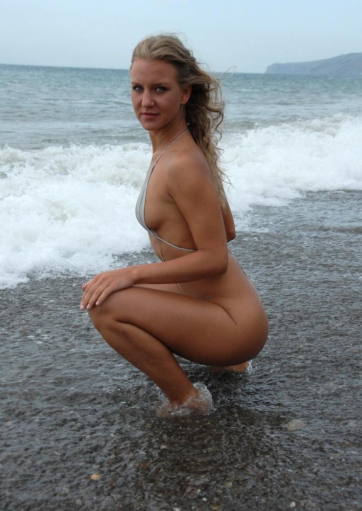 Mature micro bikini