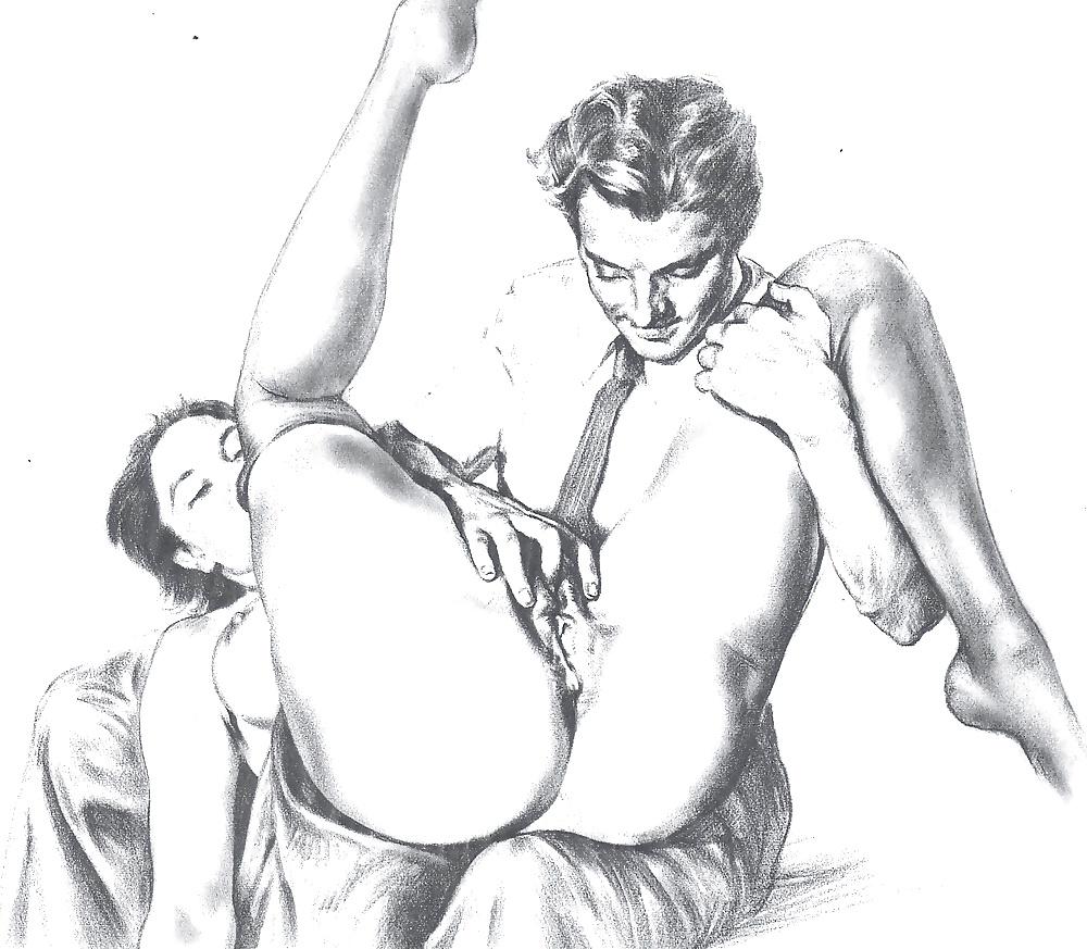 Vintage Porn Drawings