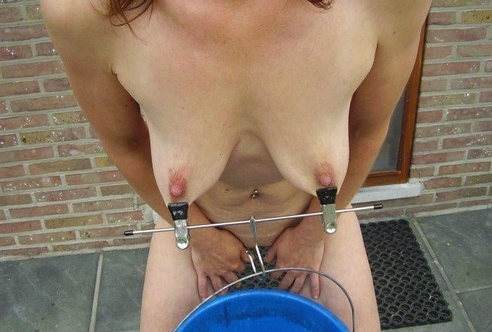 Ebony Hoe Is Hanged Upside Down With Weights On Her Tits