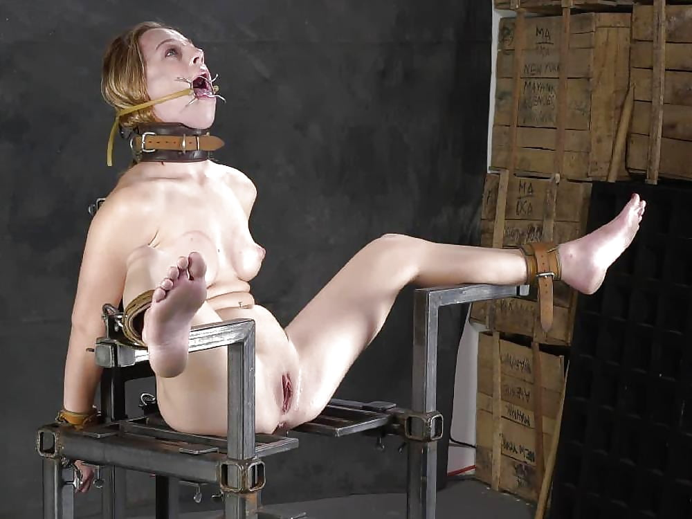 Nasty woman got her giant tits tortured hard bdsm picture