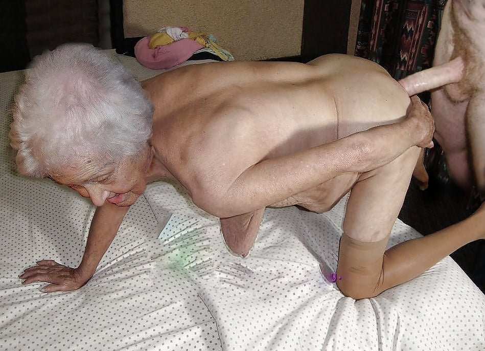 Granny fucks young couple