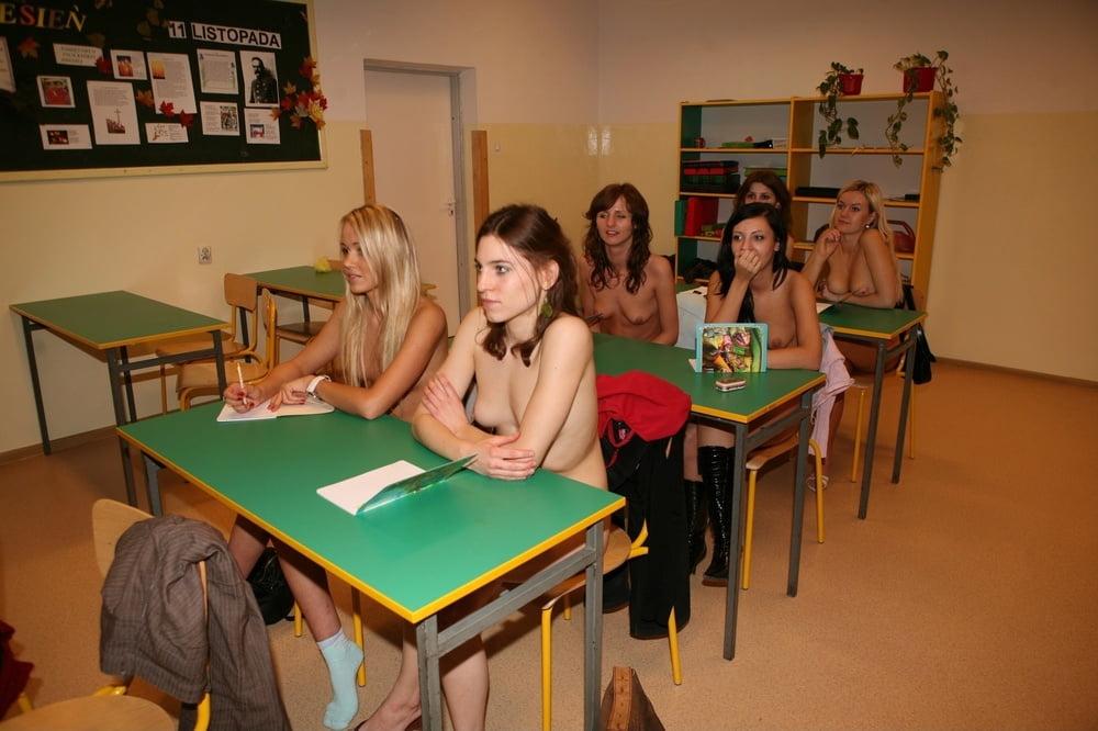 Nude girls in classroom pics