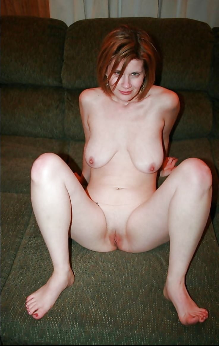 Amateur nude redhead wife, nude woman on loveseat
