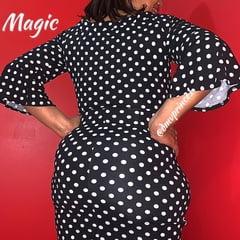 magics big ass in polka dot dress