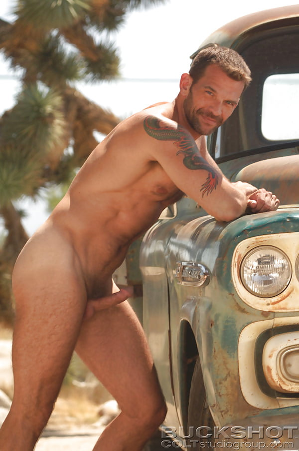 Nude males in cars — 11