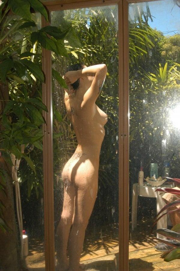 Mature Nude Women Outdoor Shower