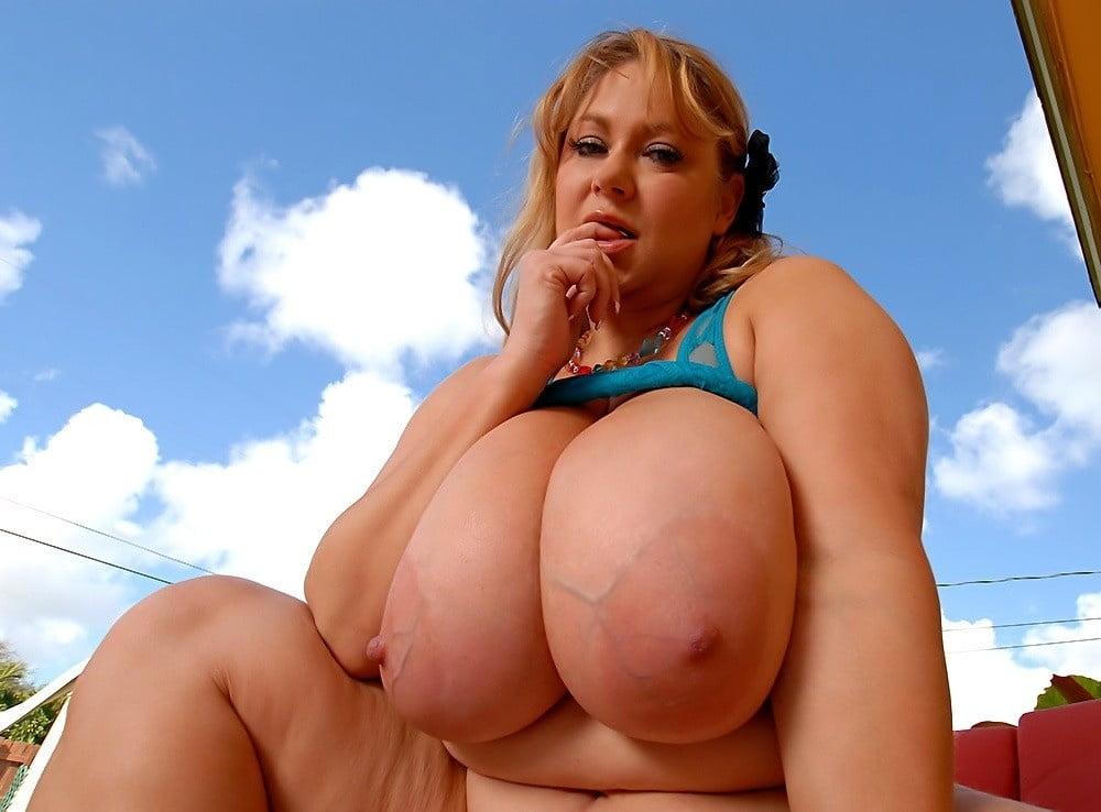 Plumper Gets Her Huge Boobs Moist For You