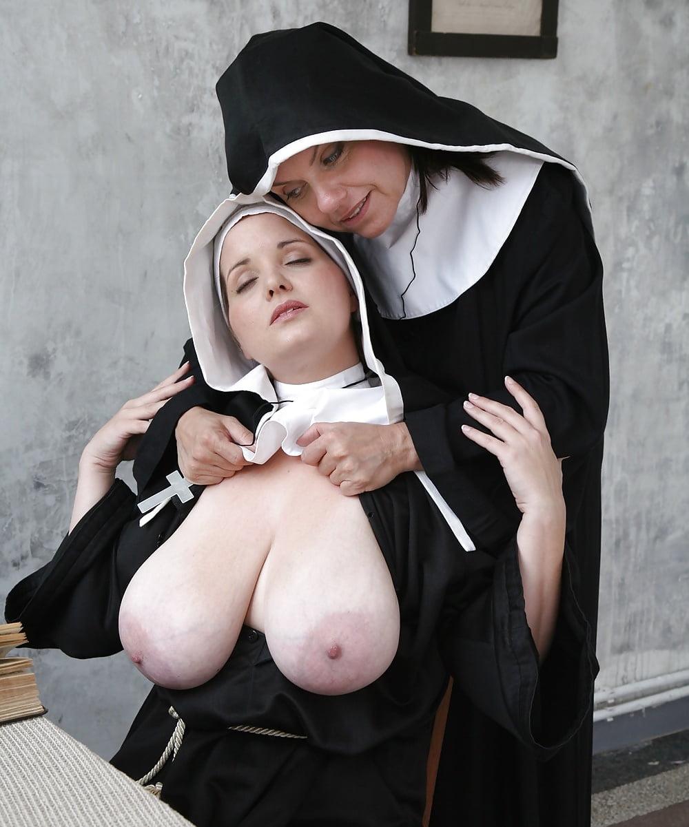 Two big tits nuns fuck priest