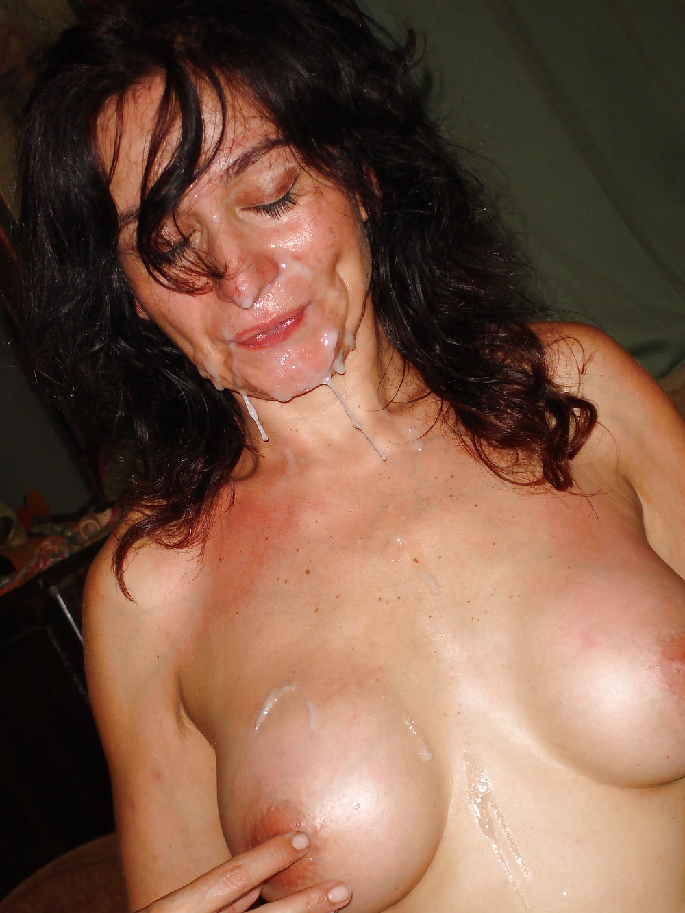 Naked milfs with sperm on them with