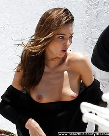 Miranda Kerr Loses Her Top on a Photo Shoot