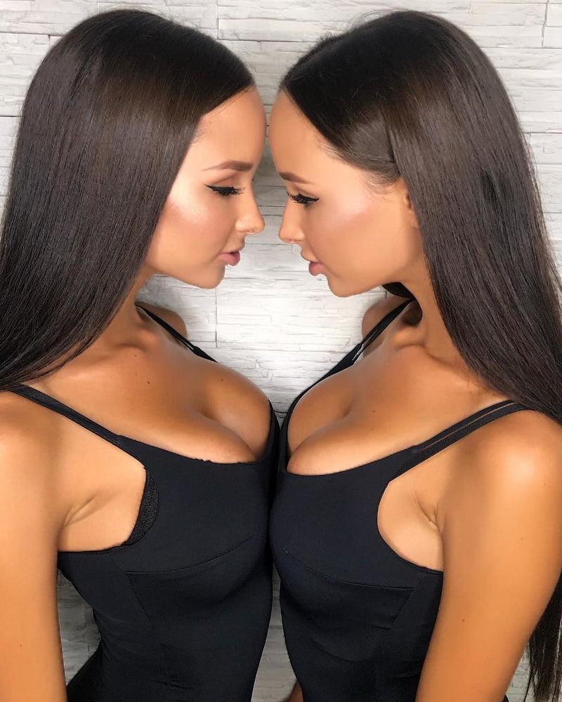 Black hair sexy twins — pic 8
