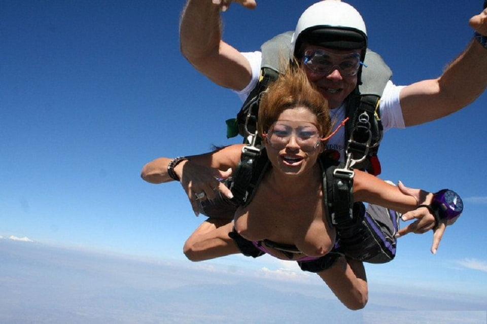 Watch Naughty Badass Hot Babes Wind Burn Skydiving Naked