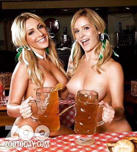 Трясет голыми фото голых девушек с пивом