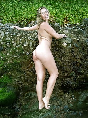 bbw naked under waterfall