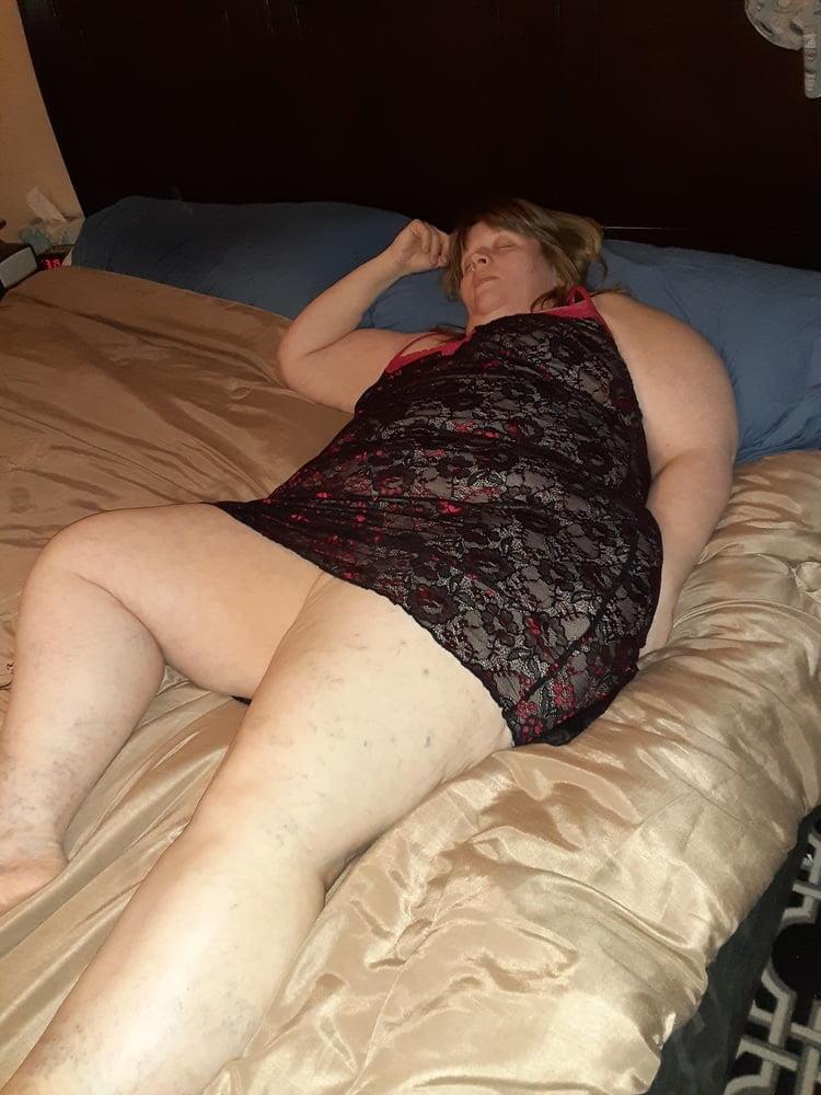 BBW Wife in Black Lingerie
