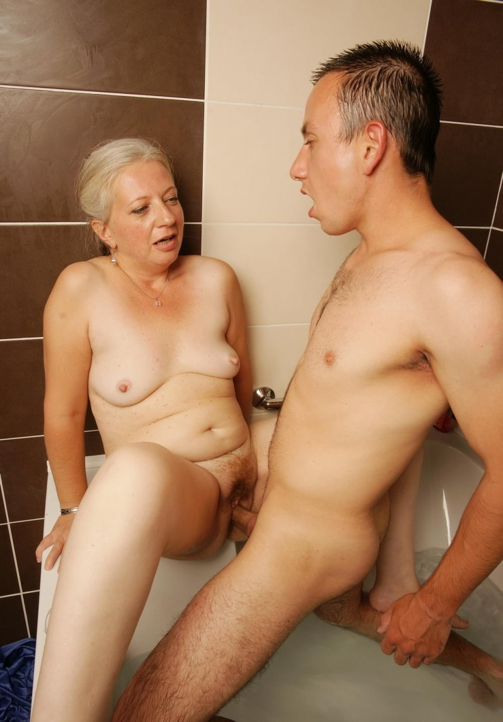 Mature female young male sex