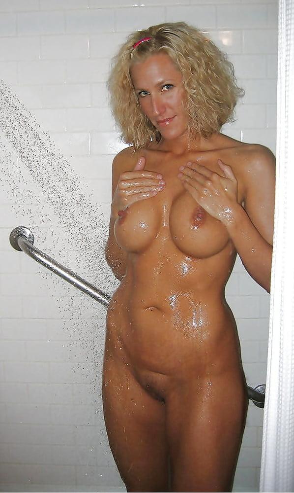 Hot milfs in shower wet