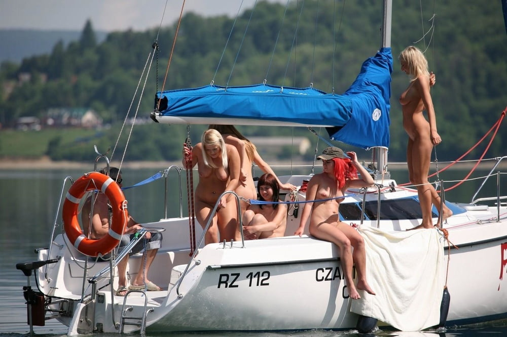 Boat trip naked model