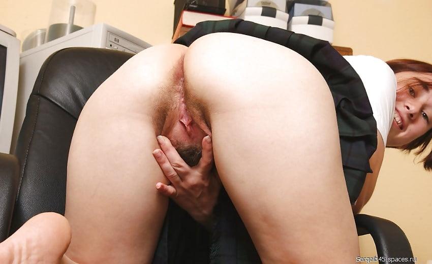 секретарша показывает волосатую вагину фото - 14