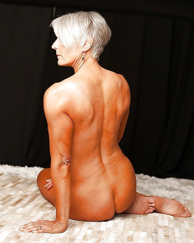 Grey haired mature nude women