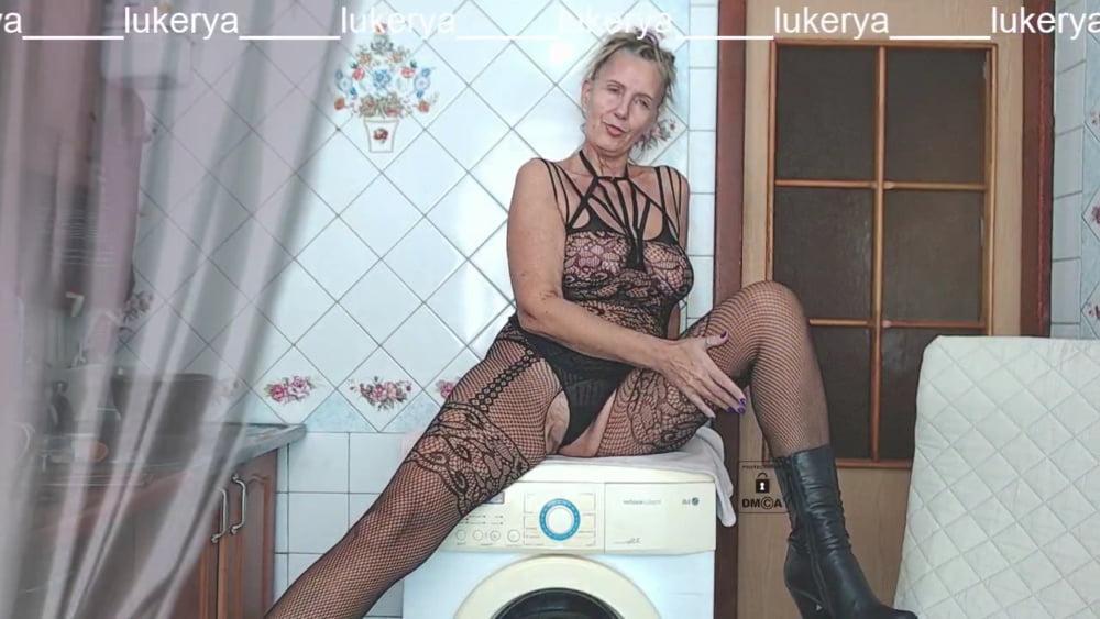 Lukerya in a black net