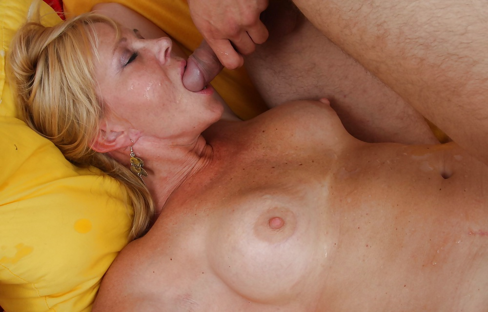 Busty spanish milf sucking and fucking a mighty cock spanish