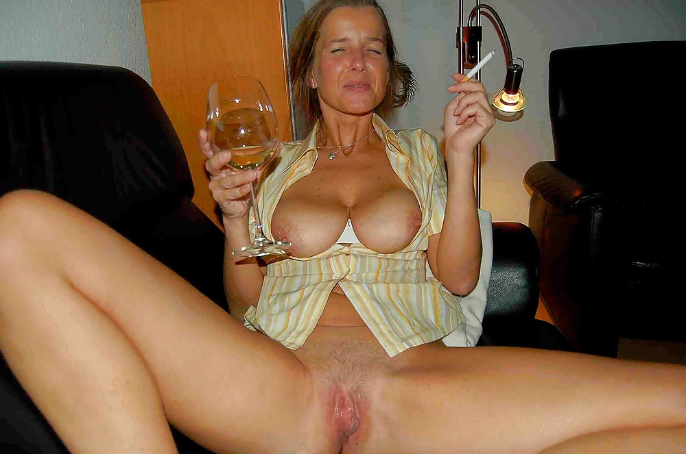 Drunk milf passed out
