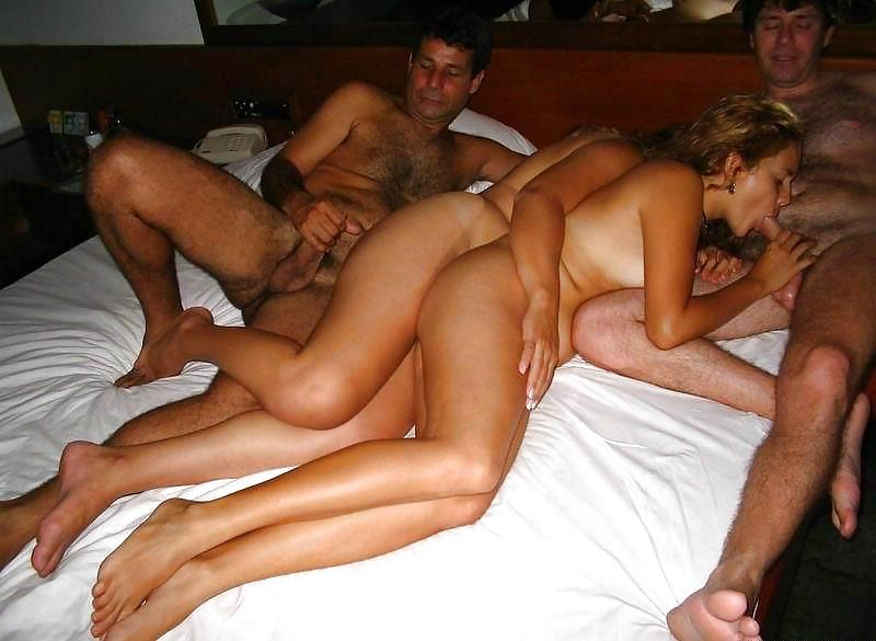 Awesome Hotel Room Group Sex With Two Asian Whore Saya And Morgan