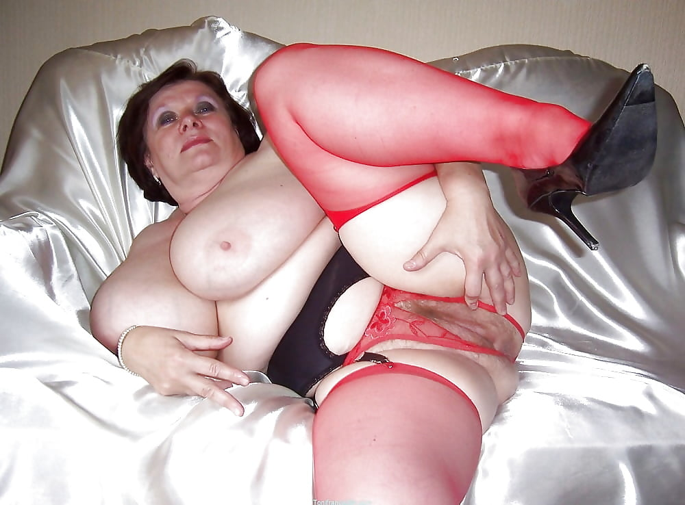 Mature chubby woman relaxing