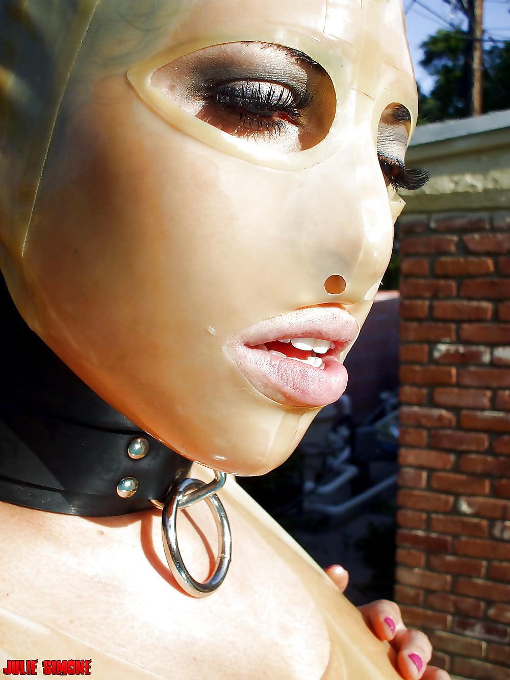 Latex mask porn