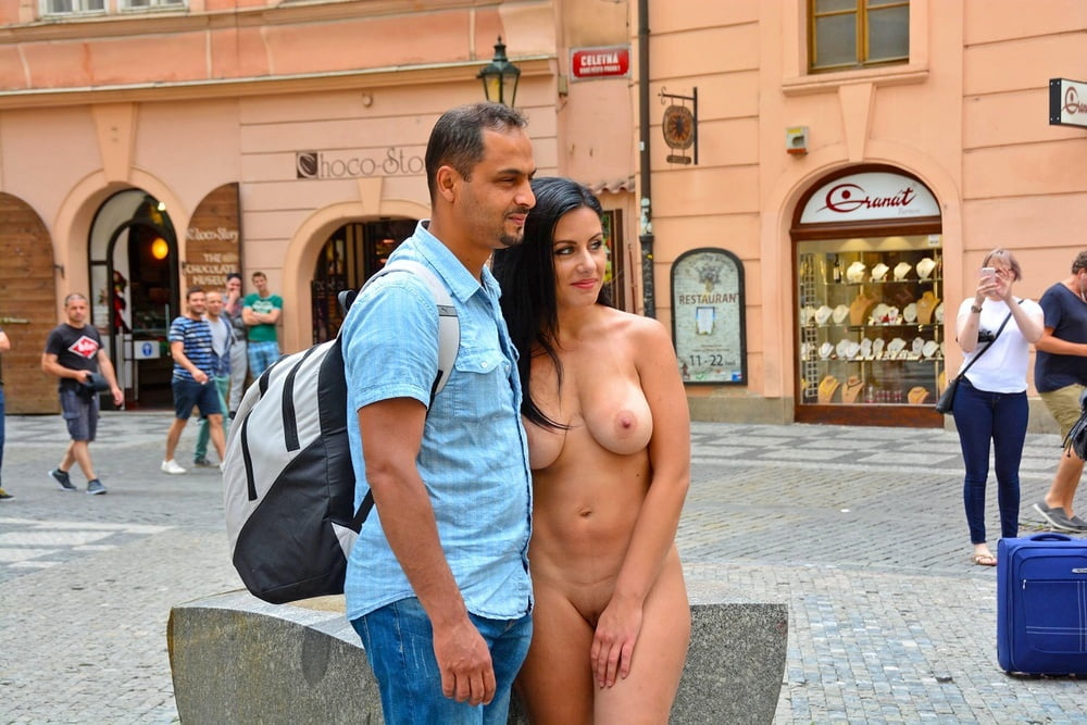 Nude man clothed woman