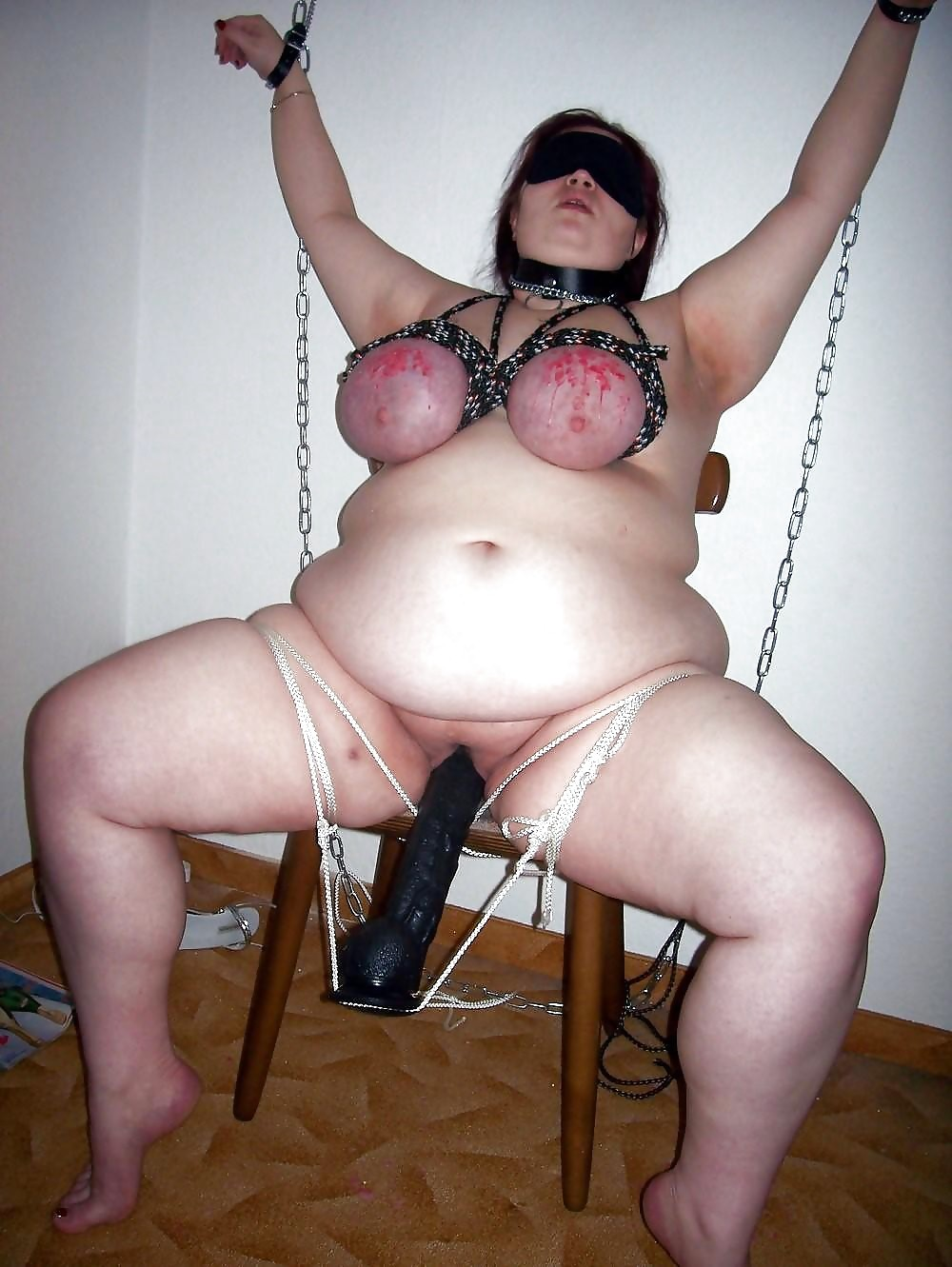 Free Amateur Bbw Breast Bondage