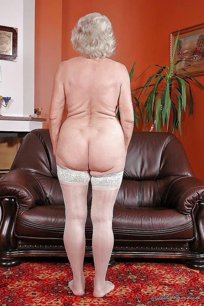 Naked white granny ass 14