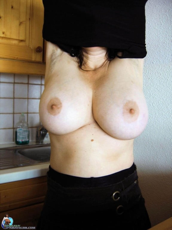 Skinny girl with huge natural tits-6546