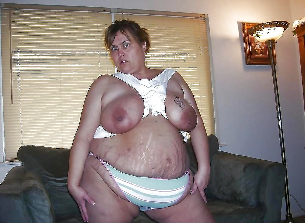 Huge saggy boobs big belly